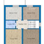 План 2 этажа с полами